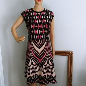 Just Taylor dress career casual midi party black